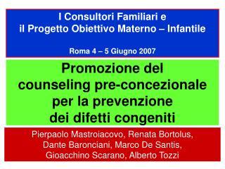 Promozione del  counseling pre-concezionale per la prevenzione  dei difetti congeniti