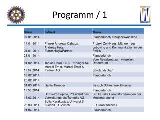Programm / 1