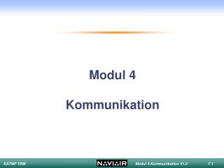 Modul 4  Kommunikation