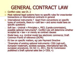 V. GENERAL CONTRACT LAW