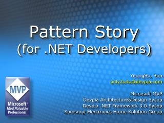 Pattern Story (for .NET Developers)