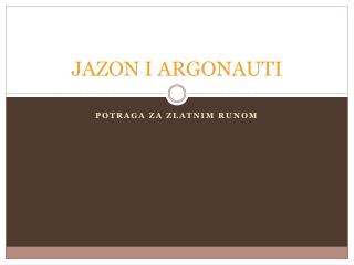 JAZON I ARGONAUTI