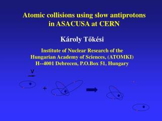 K�roly  T?k�si Institute of Nuclear Research of the  Hungarian Academy of Sciences, (ATOMKI)
