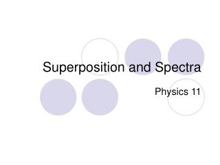 Superposition and Spectra