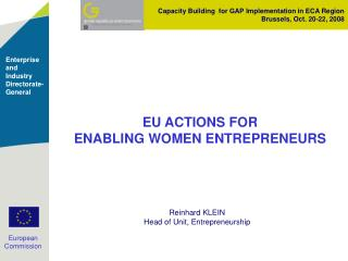 EU ACTIONS FOR ENABLING WOMEN ENTREPRENEURS