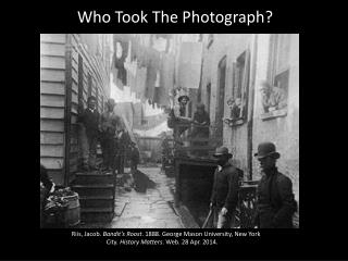 Who Took The Photograph?