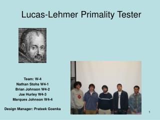 Lucas-Lehmer Primality Tester