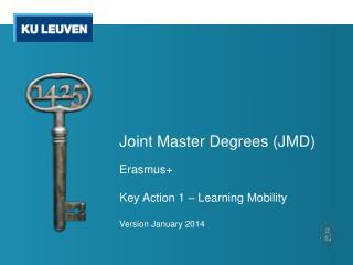 Joint Master Degrees (JMD)