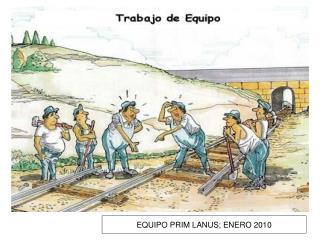 EQUIPO PRIM LANUS; ENERO 2010