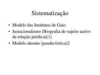 Sistematização
