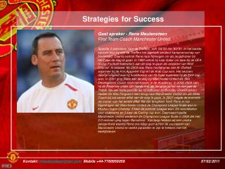 Gast spreker - Rene Meulensteen First Team Coach Manchester United