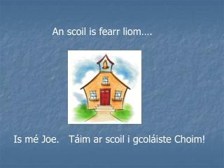 An scoil is fearr liom….