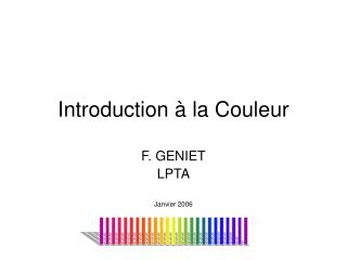 Introduction   la Couleur