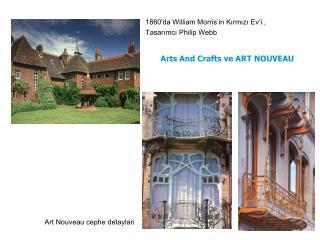 1860'da William Morris'in Kırmızı Ev'i ,  Tasarımcı Philip Webb