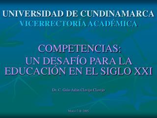UNIVERSIDAD DE CUNDINAMARCA VICERRECTORÍA ACADÉMICA