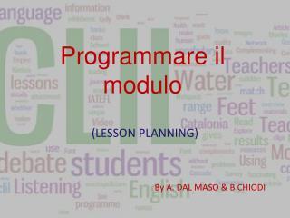 Programmare il modulo