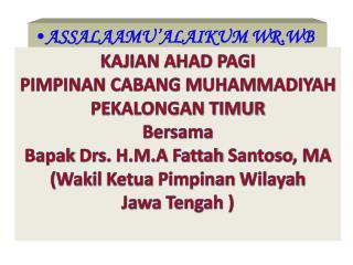 ASSALAAMU'ALAIKUM WR.WB