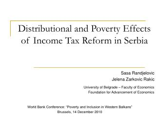 Distributional and Poverty Effects of Income Tax Reform in Serbia