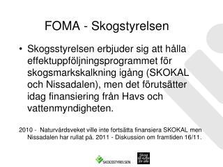 FOMA - Skogstyrelsen