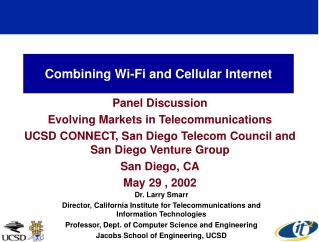 Combining Wi-Fi and Cellular Internet
