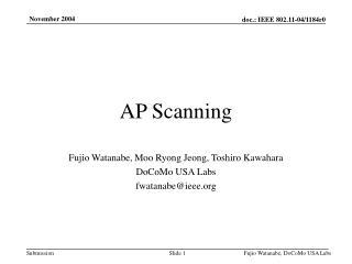 AP Scanning