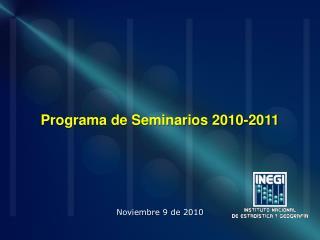 Programa de Seminarios 2010-2011