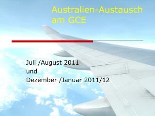 Australien-Austausch am GCE