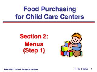Food Purchasing  for Child Care Centers