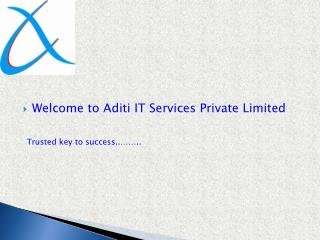 Welcome to Aditi IT Services Private Limited Trusted key to success..……..