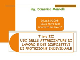ing. Domenico Mannelli