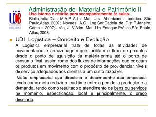 Administração de  Material e Patrimônio II