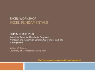 Excel Workshop Excel  Fundamentals