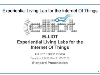 ELLIOT  Experiential Living Labs for the Internet Of Things