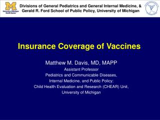 Insurance Coverage of Vaccines