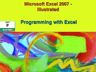 Microsoft Excel 2007 - Illustrated