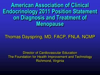 MENOPAUSE: HRT or NO HRT