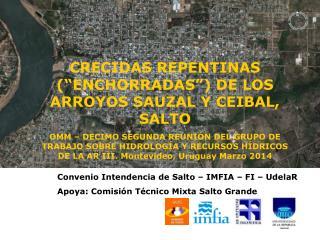 Convenio Intendencia de Salto – IMFIA – FI – UdelaR Apoya: Comisión Técnico Mixta Salto Grande