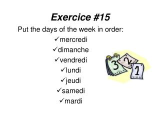 Exercice #15