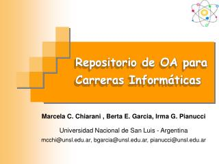 Repositorio de OA para Carreras Informáticas