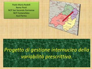 Progetto di gestione internucleo della variabilità prescrittiva .