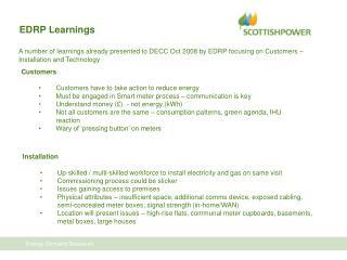 EDRP Learnings