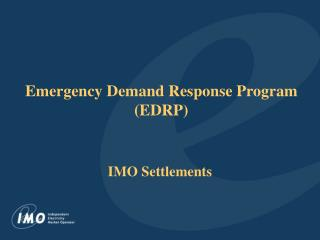 Emergency Demand Response Program (EDRP)