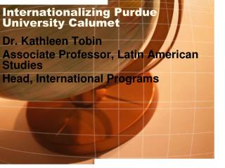 Internationalizing Purdue University Calumet