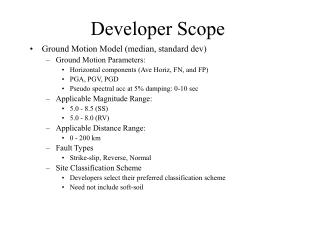 Developer Scope