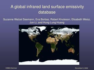 A global infrared land surface emissivity database