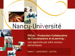NANCY – UNIVERSITÉ – NUTICE
