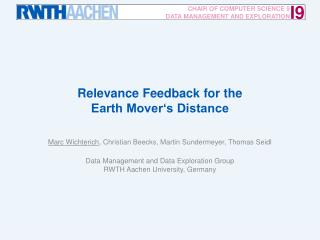 Relevance Feedback for the Earth Mover's Distance