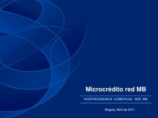 Microcrédito red MB