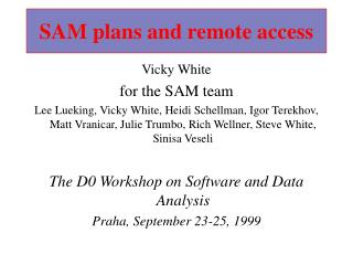 SAM plans and remote access