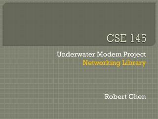 CSE 145